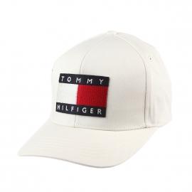 Casquette Tommy Hilfiger en coton crème brodée du logo