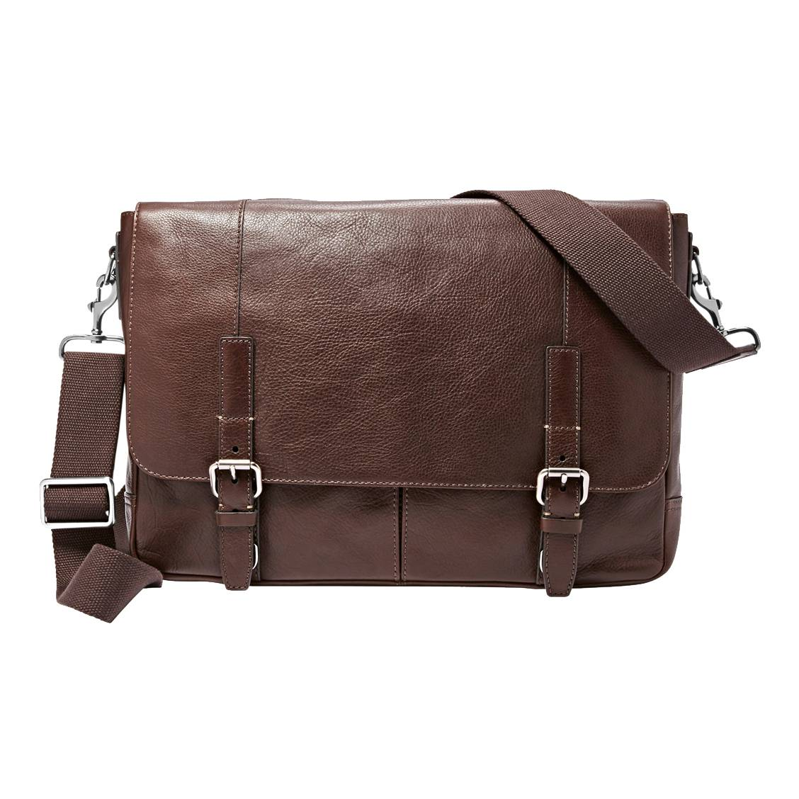 Portedocumentsordinateur Pouces Graham Fossil En Cuir Marron - Porte document fossil