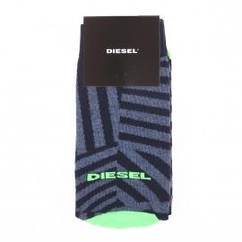 Chaussettes Diesel en coton mélangé bleu jean à motifs géométriques bleu marine