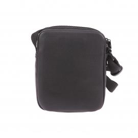 Sacoche Calvin Klein Jeans Col 3 en simili cuir noir à bandes grises