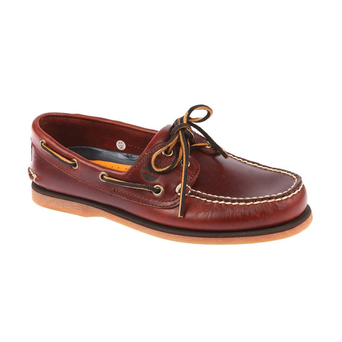 chaussures bateau icon 2 eye timberland en cuir marron rue des hommes. Black Bedroom Furniture Sets. Home Design Ideas
