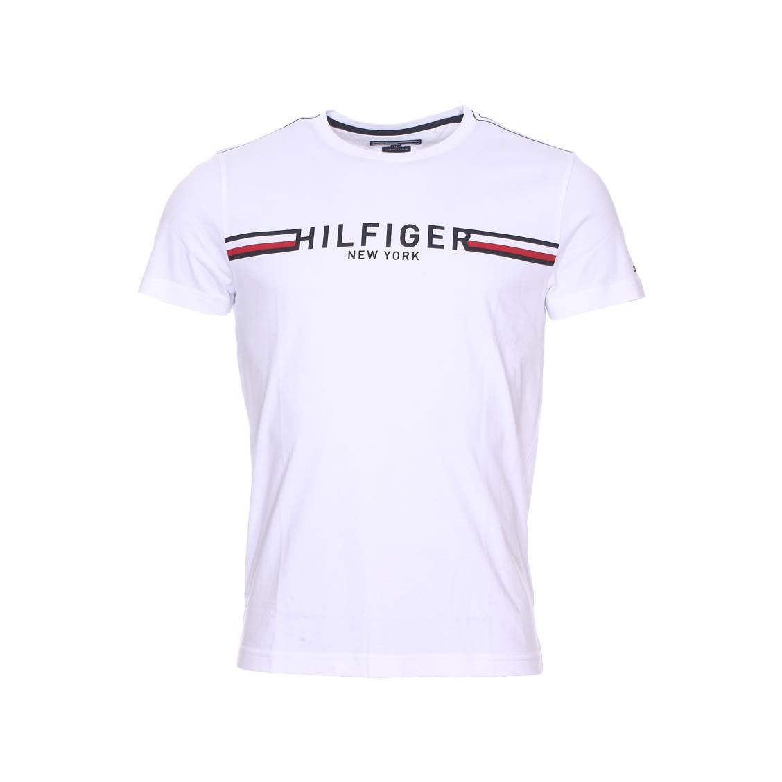 tee shirt col rond tommy hilfiger en coton biologique. Black Bedroom Furniture Sets. Home Design Ideas