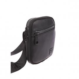 Petite sacoche Replay en simili cuir noir