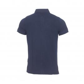 Polo cintré Tommy Hilfiger en coton maille piquée bleu marine