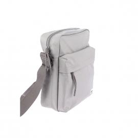 Sacoche Lacoste en toile grise