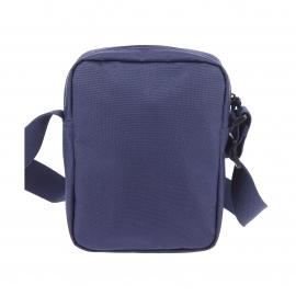Petite sacoche Lacoste en toile bleu marine