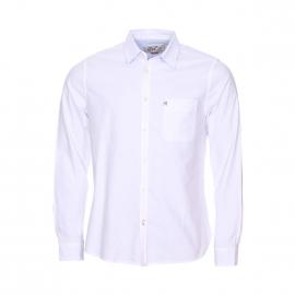 Chemise droite Chevignon en coton blanc à poche poitrine