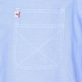 Chemise droite Chevignon en coton bleu clair à poche poitrine