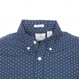 Chemise cintrée Dockers bleu marine à motifs ancres blanches