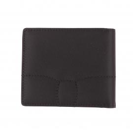 Portefeuille italien 2 volets Eden Park noir bi-matière à porte-monnaie