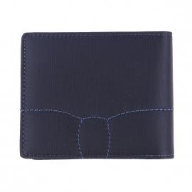 Portefeuille italien 2 volets Eden Park bi-matière bleu marine à porte-monnaie
