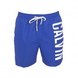 Short de bain Calvin Klein bleu électrique floqué sur le côté