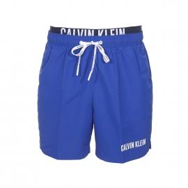 Short de bain Calvin Klein bleu électrique à double ceinture
