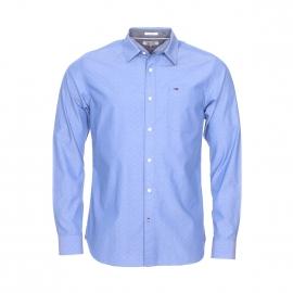 Chemise droite Hilfiger Denim en coton bleu à motifs blancs