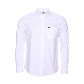 Chemise droite Lee en popeline de coton blanc