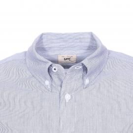 Chemise cintrée Lee en coton blanc à fines rayures noires