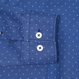 Chemise cintrée Gisborne Napapijri en coton bleu indigo à motifs bleues