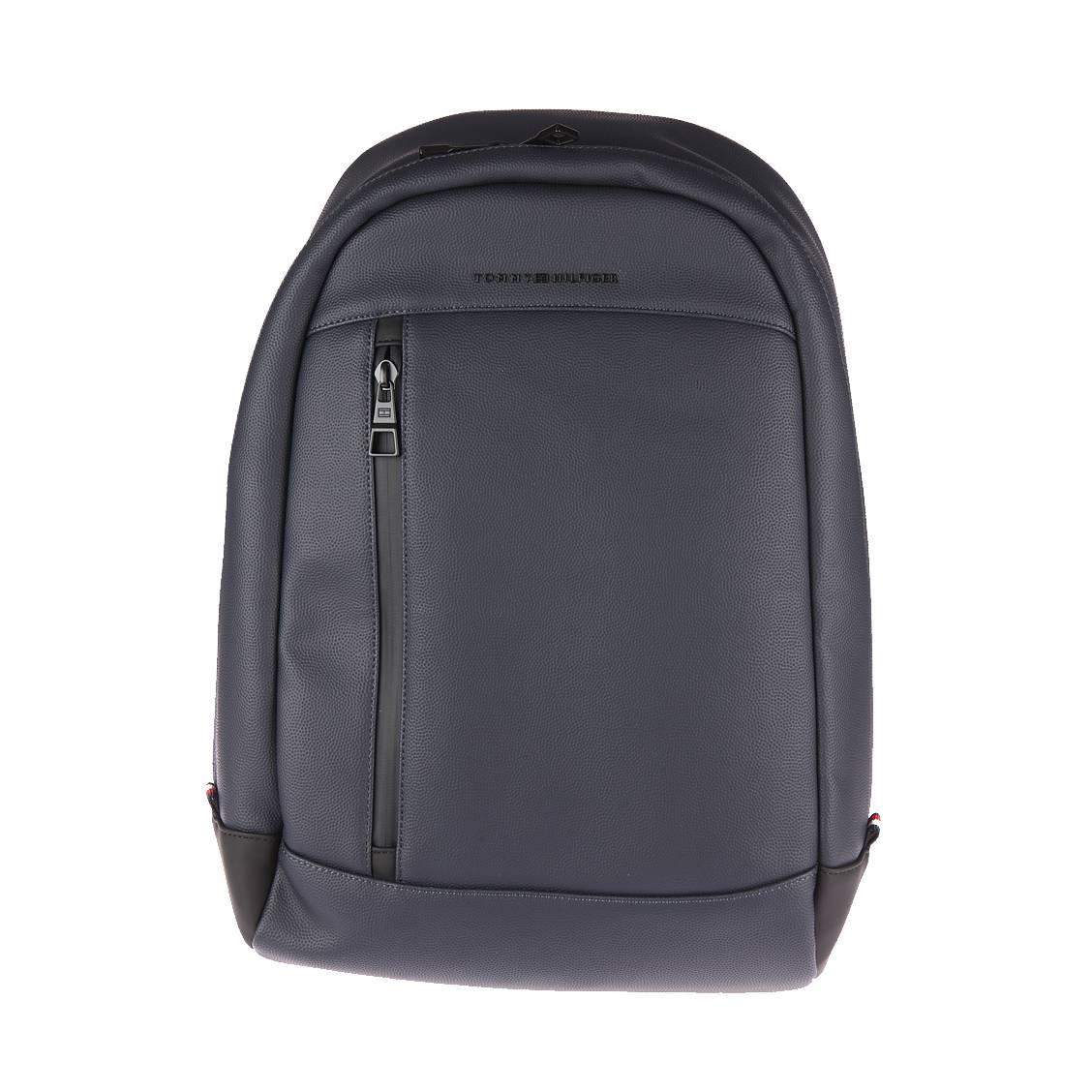 sac dos tommy hilfiger courtside en simili cuir bleu nuit rue des hommes. Black Bedroom Furniture Sets. Home Design Ideas