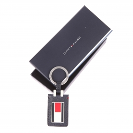 Porte-clés Tommy Hilfiger Paolo en cuir bleu marine logotypé