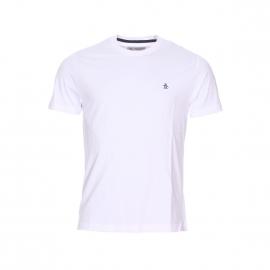 Tee-shirt col rond Original Penguin en jersey de coton blanc brodé