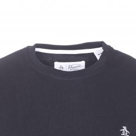 Tee-shirt col rond Original Penguin en jersey de coton noir brodé