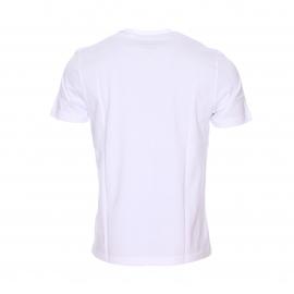 Tee-shirt col rond Original Penguin en jersey de coton blanc floqué du logo en bleu marine