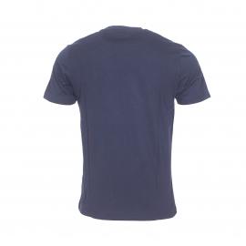 Tee-shirt col rond Original Penguin en coton bleu marine floqué en feutrine blanche