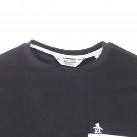 Tee-shirt col rond Original Penguin en coton noir à poche poitrine
