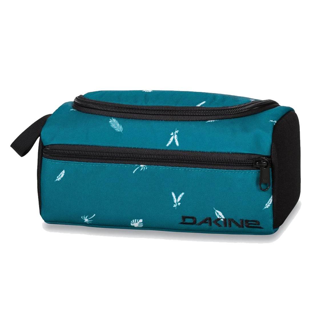 trousse de toilette dakine groomer bleu canard imprim s feuilles rue des hommes. Black Bedroom Furniture Sets. Home Design Ideas