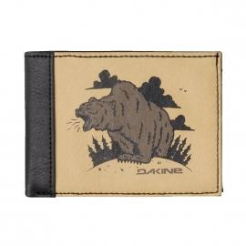 Portefeuille italien Dakine en simili cuir marron clair Bear