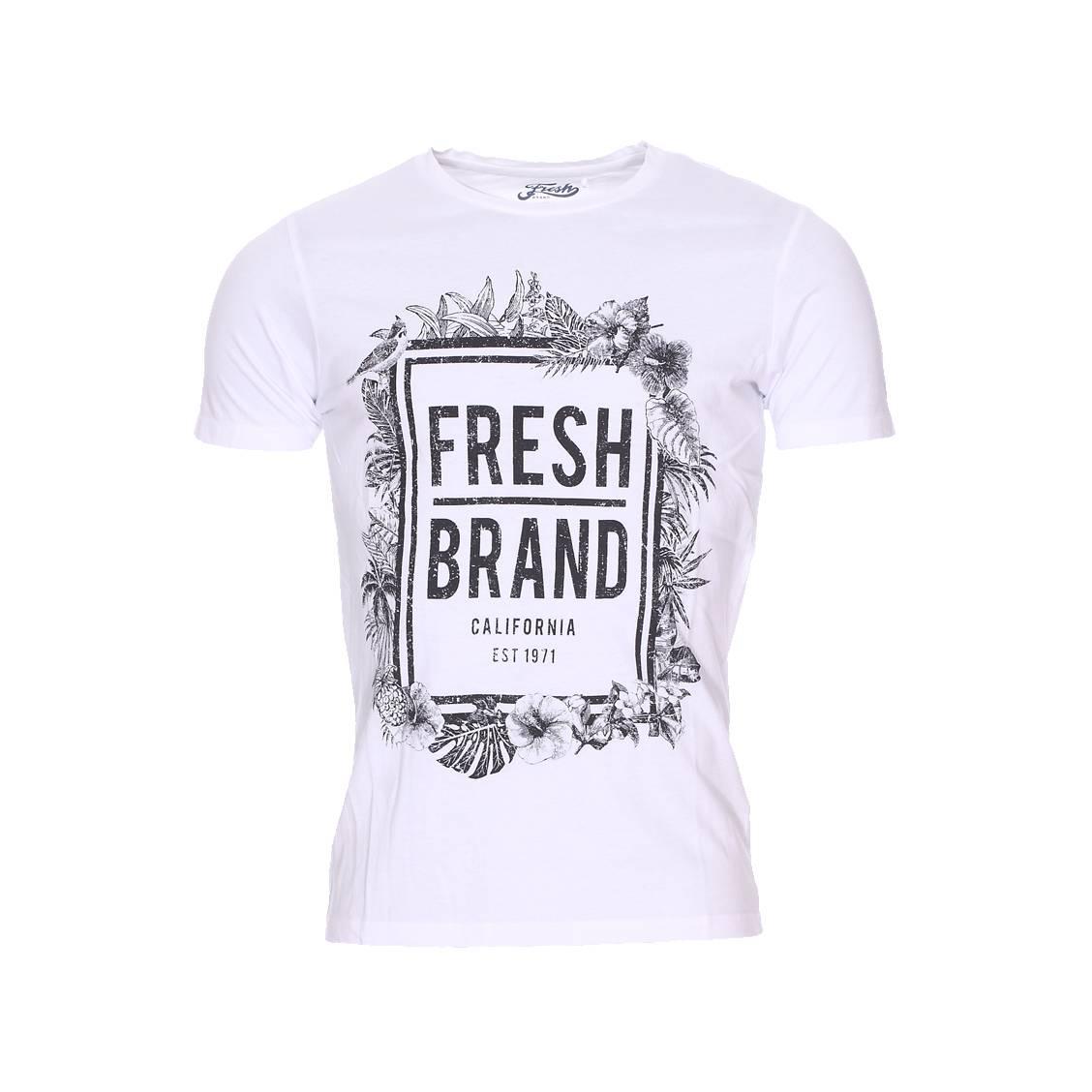 Tee shirt fleuri jusqu 75 pureshopping for Fresh brand t shirts