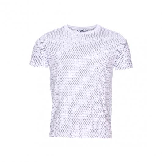 Tee shirt col rond the fresh brand blanc petits imprim s for Fresh brand t shirts