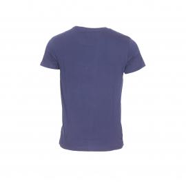 Tee-shirt col rond Guess en coton bleu marine floqué Guess California