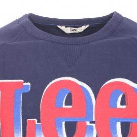 Sweat col rond Lee en coton bleu marine floqué du logo