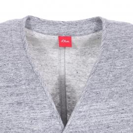 Veston sans manches S. Oliver en lin et coton gris moucheté