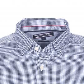 Chemise ajustée Tommy Hilfiger en coton à carreaux vichy bleu marine et blancs