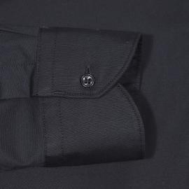 Chemise cintrée Replay en coton stretch noir