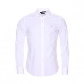 Chemise cintrée Replay en coton stretch blanc