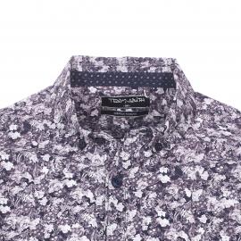 Chemise ajustée Carton Teddy Smith en coton bleu marine à motifs fleurs