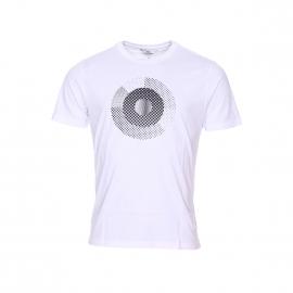 Tee-shirt col rond Ben Sherman en coton blanc à motifs pointillés noirs