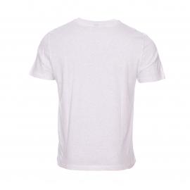 Tee-shirt col rond Ben Sherman en coton gris clair chiné floqué