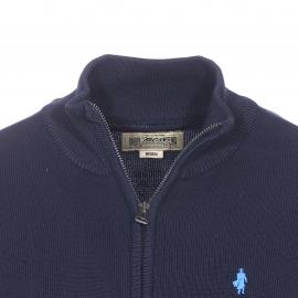 Gilet zippé MCS en coton bleu marine