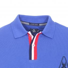 Polo Gaastra en piqué de coton bleu royal