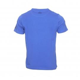 Tee-shirt col rond Gaastra en coton bleu royal floqué en bleu marine et blanc