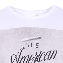 Tee-shirt col rond Hero Seven Frisbee en coton blanc Steve McQueen Legend Collection