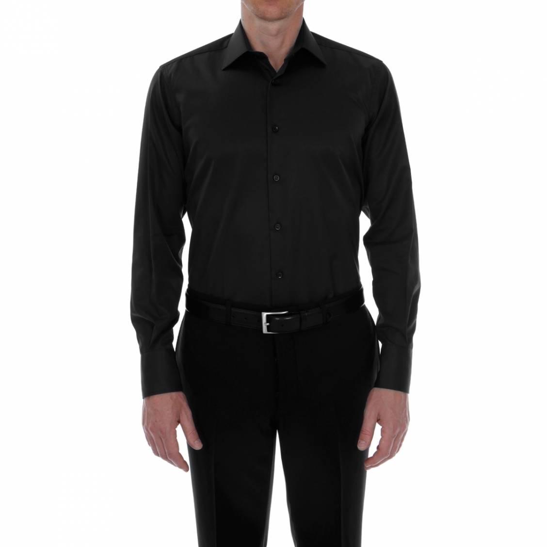 chemise homme unie coupe classique rue des hommes. Black Bedroom Furniture Sets. Home Design Ideas