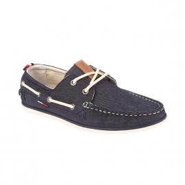 Chaussures bateau Hilfiger Denim en coton bleu jean