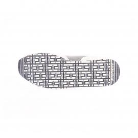 Baskets Hilfiger Denim en daim gris et blanc