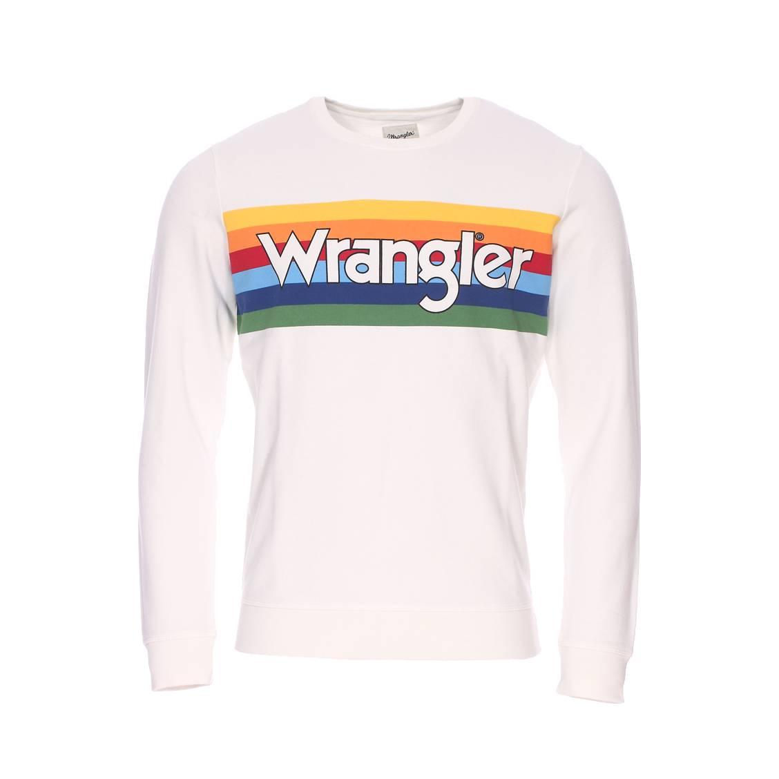 Vintage CrèmeRue Rainbow Wrangler Hommes Rond Sweat Coton En Des Col iPXZTluwOk
