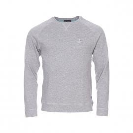 Sweat col rond Armor Lux en coton doux gris chiné